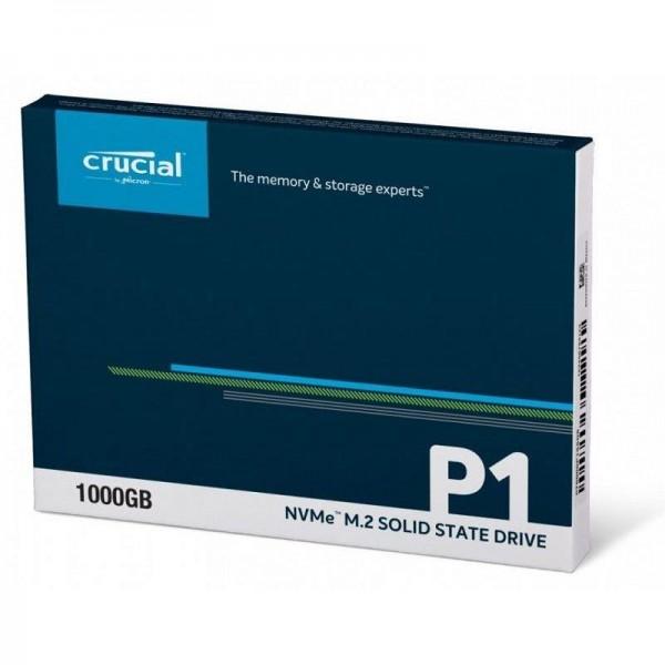 Dysk SSD Crucial P1 1TB M.2 PCIe Gen3 x4 NVMe 2280 (2000/1700MB/s)-6636