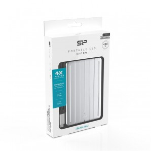 Dysk zewnętrzny SSD Silicon Power Bolt B75 480GB (440/430 MB/s) USB 3.1 Typ-C, srebrny aluminium-6813