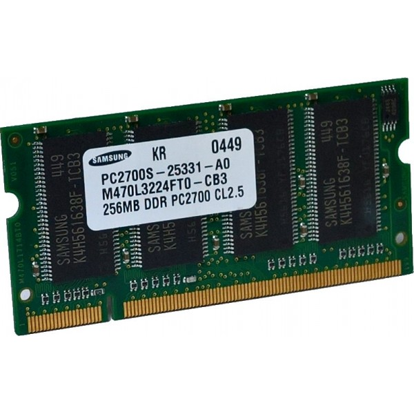 Pamięć RAM DDR 256MB SO-DIMM