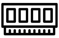Pamięć       RAM typu DDR3 Ikona